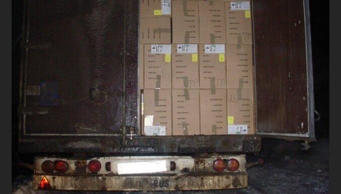 Aiztur šogad lielāko kontrabandas cigarešu kravu
