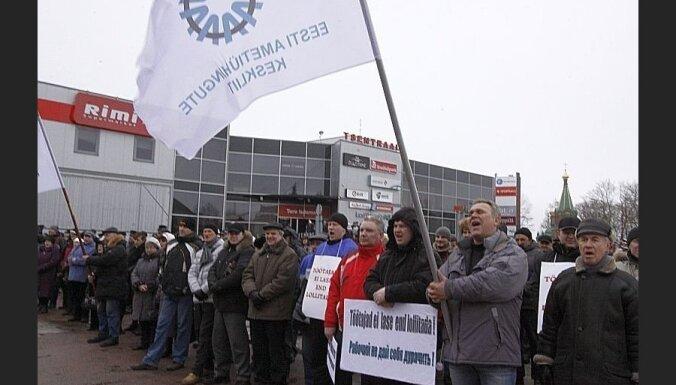Эстония: шахтеры и энергетики вышли на митинг протеста