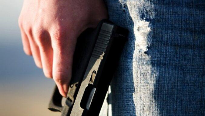 Полиция задержала хулигана, стрелявшего на улице