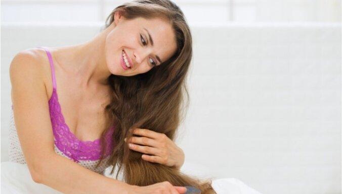 10 padomi sausu matu kopšanai