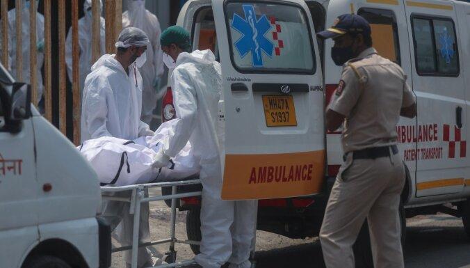 Indijā koronavīrusa inficēšanās gadījumu skaits pārsniedzis 20 miljonus