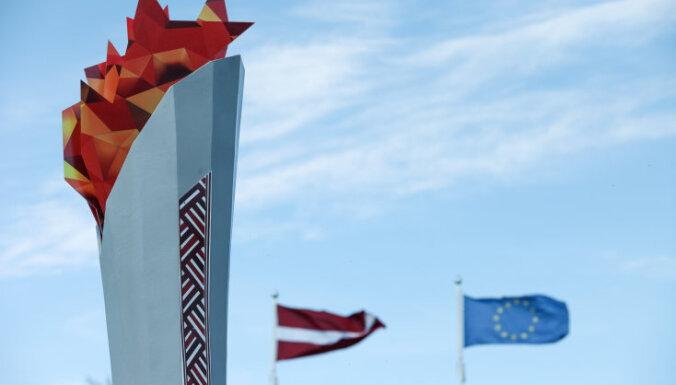 Foto: Rēzeknieši 'vāc enerģiju' Latvijas olimpiešiem