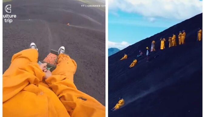 Šļūkt lejup no vulkāna – izklaide tikai drosmīgajiem Nikaragvā