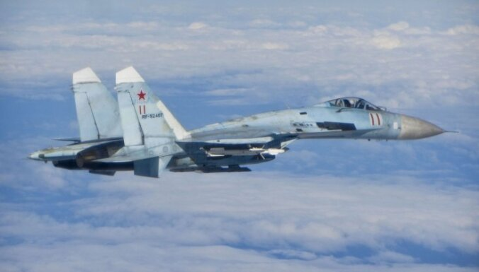 Пентагон показал снимки перехвата бомбардировщиков США российским Су-27