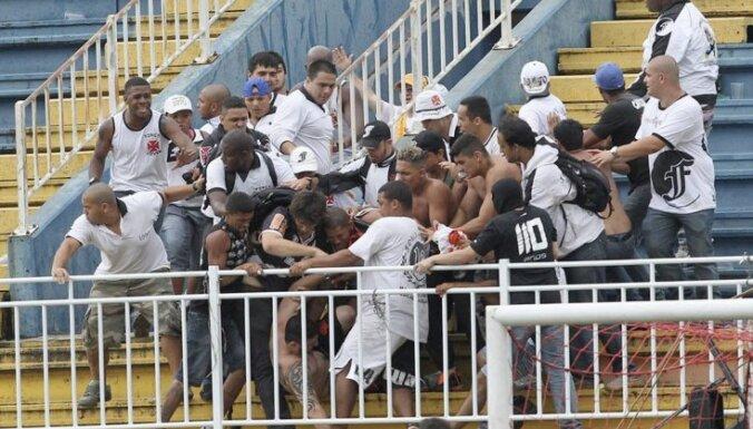 Жестокие разборки болельщиков прервали матч чемпионата Бразилии