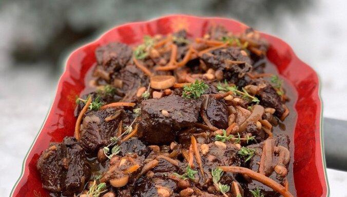 Рецепт на конкурс: Говядина с черносливом и кедровыми орешками