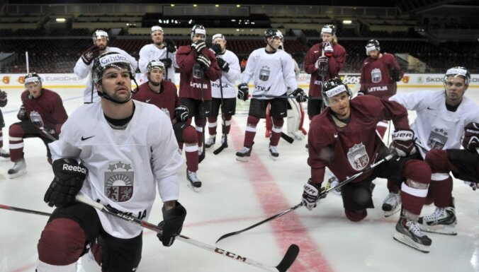 Сборная Латвии стартует на турнире Euro Ice Hockey Challenge в Лиепае