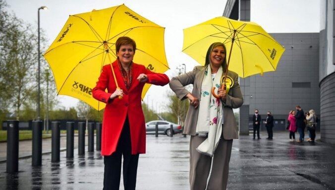 Skotijas parlamenta vēlēšanās uzvarējusi SNP