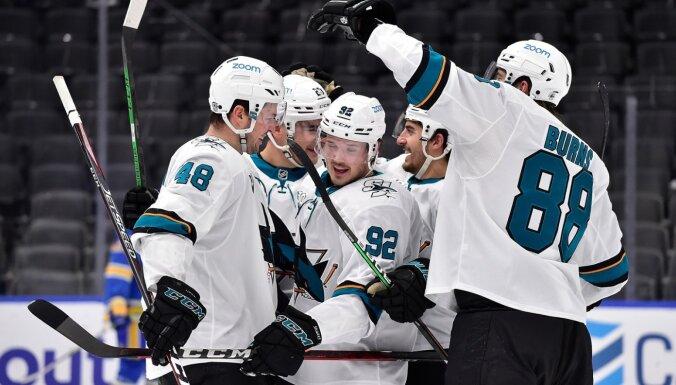 Balceram rezultatīva piespēle 'Sharks' neveiksmē pret 'Wild'