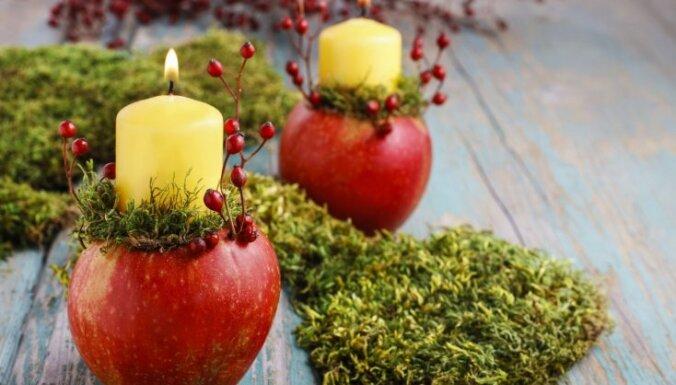Foto pamācība: Rudens noskaņas dekorācija ar svecītēm ābolos