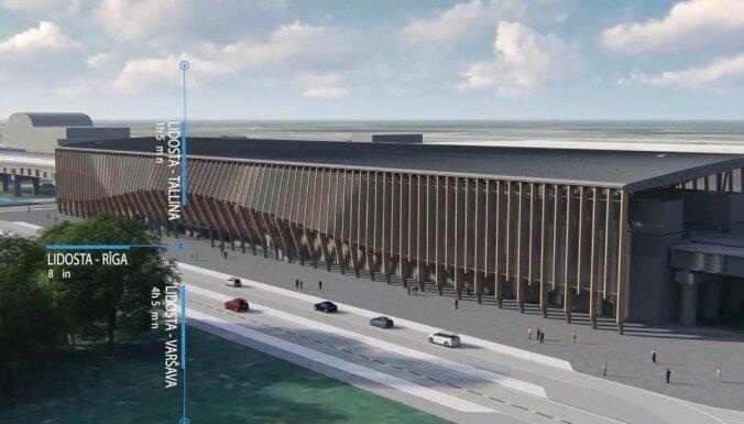 'Rail Baltica' stacijas un saistītās infrastruktūras izbūve lidostā 'Rīga' izmaksās 237 miljonus eiro