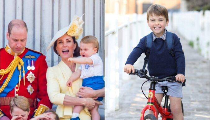 Foto: Britu mazais princis Luiss svin trešo dzimšanas dienu