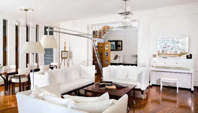 Iespaidīgi: Stila tīrība un nevainojams dizains 1000 kvadrātmetru dzīvoklī