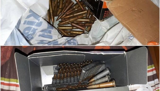Арсенал в Дундаге: полиция обнаружила пистолеты, автомат и пулемет
