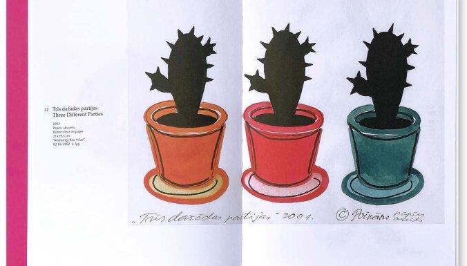 Izdota mākslinieka Ivara Poikāna zīmējumu-karikatūru grāmata