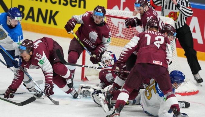 Сборная Латвии на чемпионате мира уступила по буллитам сборной Казахстана
