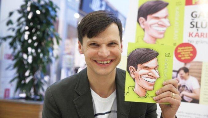 Foto: Jaunās Gata Šļūkas karikatūru grāmatas prezentācija