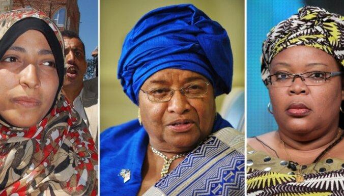 Nobela Miera prēmiju saņēmušas trīs sievietes