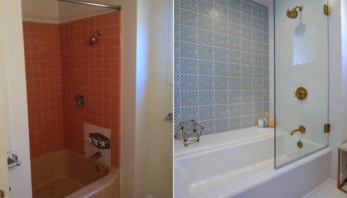 Dušas aizkaru nomaiņa pret stiklu: četras pārvērtības vannasistabā