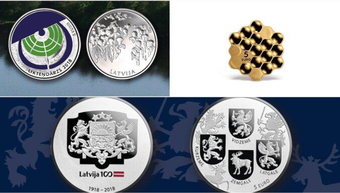 Noskaidrota 'Latvijas gada monēta 2018'