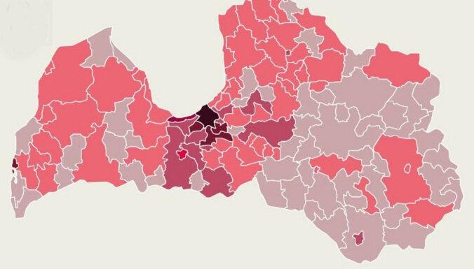 Карта: случаи Covid-19 зарегистрированы в 67 краях
