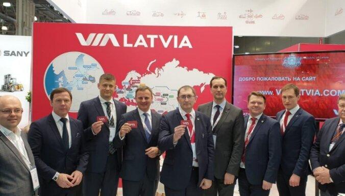 Latvijas transporta nozare izstādē Krievijā prezentē sevi ar jaunu zīmolu