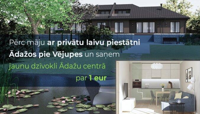 Pērc māju Ādažos un saņem īpašumā arī dzīvokli par vienu eiro!