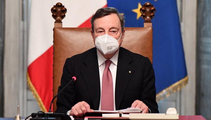 Bijušais ECB vadītājs Dragi kļuvis par Itālijas premjeru