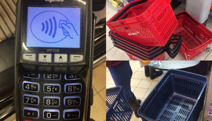 От терминалов до тележек и корзин: как в латвийских супермаркетах обеспечивают чистоту