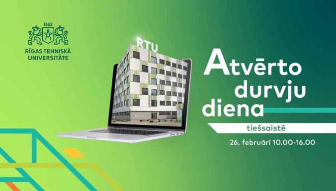 RTU aicina uz atvērto durvju dienu tiešsaistē