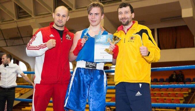Разыграны медали юниорского чемпионата Риги по боксу