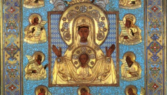 """В Ригу прибывает известная чудотворная Курская-Коренная икона Пресвятой Богородицы """"Знамение"""""""