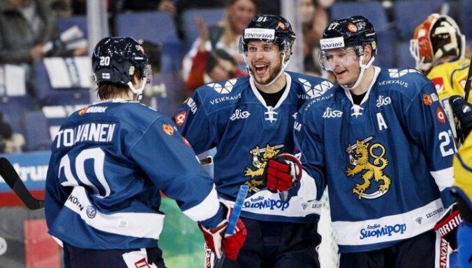 Latvijas pretinieki PČ Somijas izlase nosauc sastāvu