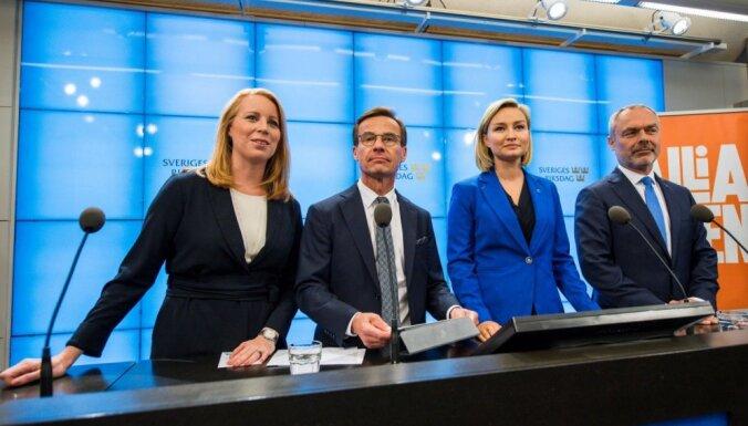 Zviedrijas centriski labējā Alianse piesaka pretenzijas uz valdības veidošanu