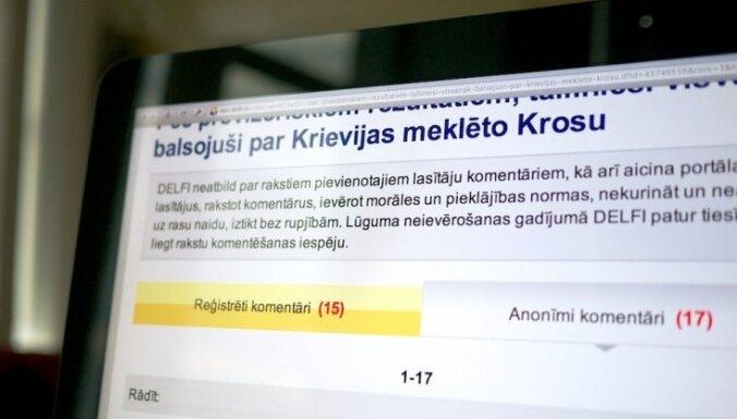 Revolucionārs solis interneta vides sakārtošanā - 'Delfi' piedāvā iespēju lietot tikai reģistrētu lasītāju komentārus