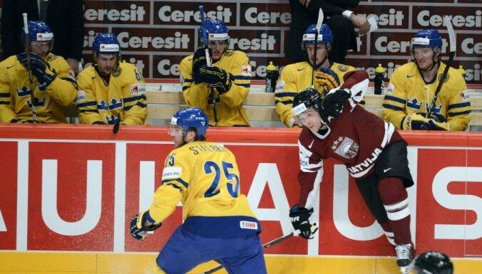 VIDEO: Latvija negūst vārtus arī spēlē pret Zviedriju
