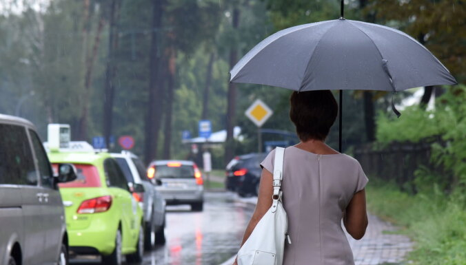 Nākamā nedēļa būs lietaina un siltums atkāpsies