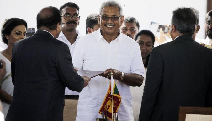 Jaunais Šrilankas līderis sola ieviest drošību