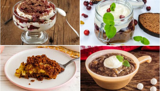 14 Lāčplēša cienīgi deserti ar latviešu spēka avotu – sātīgo rupjmaizi