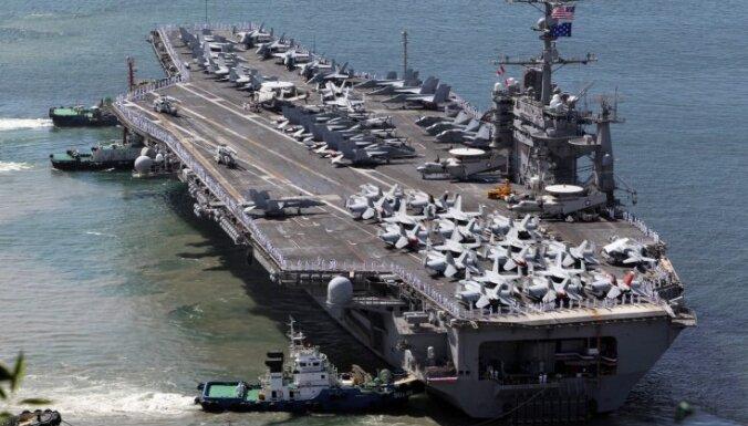 Ziemeļkoreja: ASV un Dienvidkorejas manevru sekas neviens nevar paredzēt