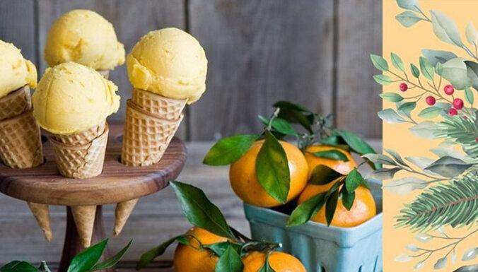 Зимний рецепт: готовим мандариновое мороженое