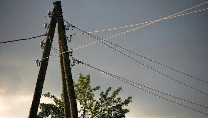 Saulkrastos traucēta elektrības apgāde