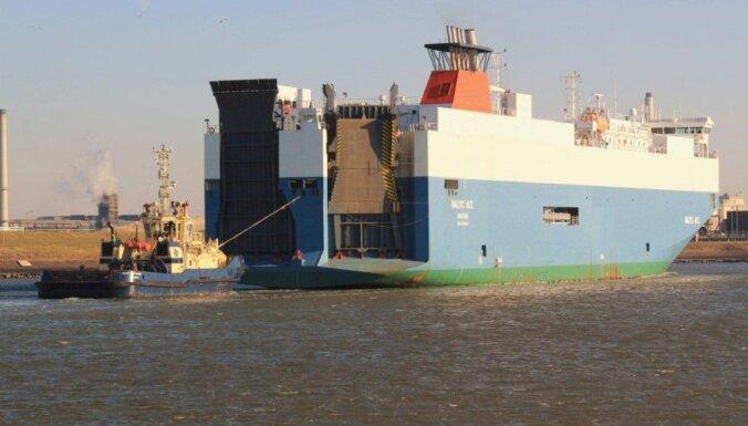 Četri bojāgājušie pēc kravas kuģu sadursmes Ziemeļjūrā