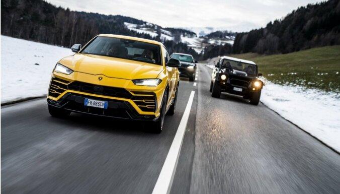 Video: Ziemassvētkos 'Lamborghini Urus' apvidnieku karavāna apceļojusi Itāliju