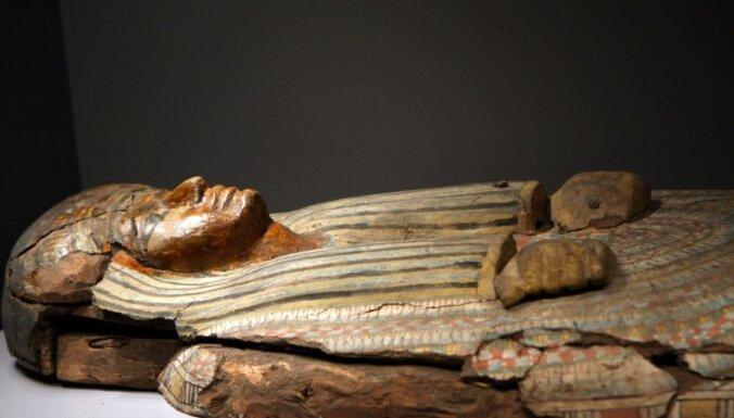 """В музей в """"Рижской бирже"""" перевозят единственную в Латвии египетскую мумию"""
