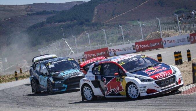 Latvijas braucēji aizvada teicamu pirmo sacensību dienu 'World RX' Portugāles posmā