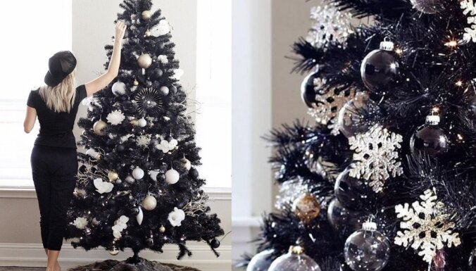 ФОТО. Новогодний тренд 2018: черные готические елки
