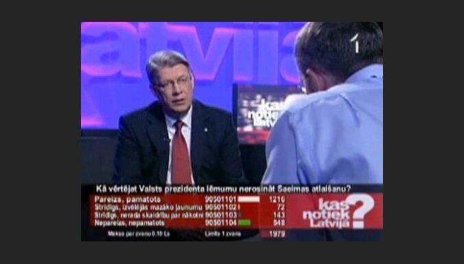 Kas notiek Latvijā?:Reformas veselībā - ar Bārzdiņu un Zatleru, bet bez plāna?