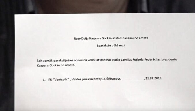 'Ventspils' prezidents aicina gāzt Gorkšu no LFF prezidenta amata