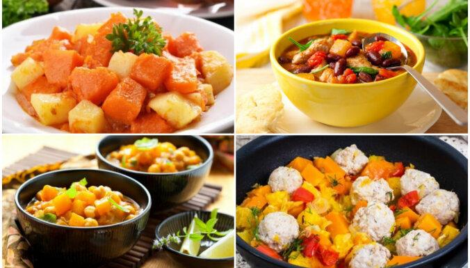 Ķirbju sautējumi gardām vakariņām: 12 receptes gan gaļēdājiem, gan veģetāriešiem